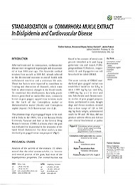 Standardization of Commiphora Mukul Extract In Dislipidemia and Cardiovascular Disease