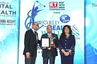 Sami-Sabinsa Group won the Best Nutraceutical Company award at Economic Times World Health & Wellness Congress & Awards. Mr. Anand Kumar, CEO, Sami Direct, received the award from Dr. Sanjay Muthal, CEO, Kontempore Leadership Solutions and Services and Dr. Tarita Shankar, Chairperson, Indira Group of Institutes.